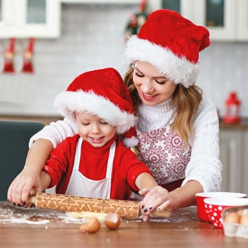 Mattarello Natale In Legno Rolling Pin per Biscotti e pizza Utensile da Cucina in Rilievo di Legno Inciso a Forma di mattarello Inciso di Natale, Goffratura Mattarello, Mattarello di Pane di Pasta - 2