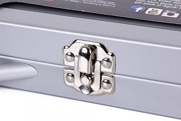 MONT MARTE Set Pittura Premium Essenziale - 90 Pezzi - Set Disegno di alta qualità in elegante Valigia di Metallo - Ideale come regalo - Perfetto per Bambini, Principianti, Professionisti e Artisti - 8