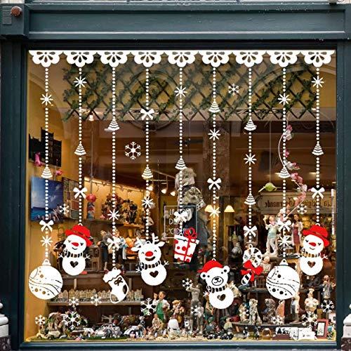 Natale Vetrofanie Rimovibile Adesivi Murali Fai da te Finestra Decorazione Vetrina Wallpaper Adesivi - 1