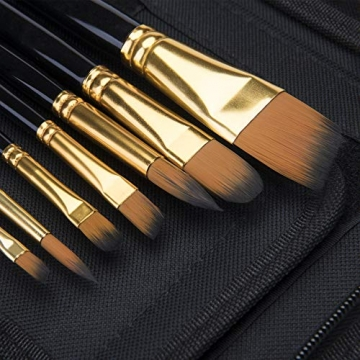 Pennello dell'artista-Pennello da 15 Colori per Pittura acrilica, Acquerello, Olio e Gouache Dimensioni Diverse Spazzole multifunzionali Forma (Punto Rotondo, Angolo, Ventilatore, Filetto) - 4