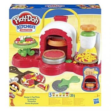Play-Doh - La Pizzeria (playset con 5 vasetti di pasta da modellare, Versione 2019), Multicolore, E4576EU4 - 2