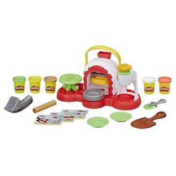 Play-Doh - La Pizzeria (playset con 5 vasetti di pasta da modellare, Versione 2019), Multicolore, E4576EU4 - 3