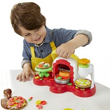 Play-Doh - La Pizzeria (playset con 5 vasetti di pasta da modellare, Versione 2019), Multicolore, E4576EU4 - 6