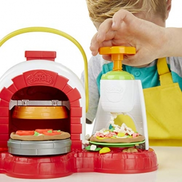 Play-Doh - La Pizzeria (playset con 5 vasetti di pasta da modellare, Versione 2019), Multicolore, E4576EU4 - 7