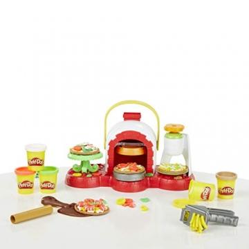 Play-Doh - La Pizzeria (playset con 5 vasetti di pasta da modellare, Versione 2019), Multicolore, E4576EU4 - 9