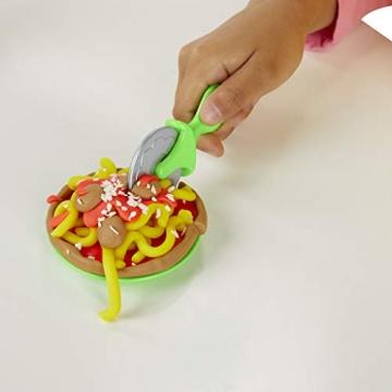Play-Doh - La Pizzeria (playset con 5 vasetti di pasta da modellare, Versione 2019), Multicolore, E4576EU4 - 10