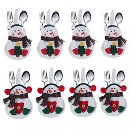 Portaposate Costume da Babbo Natale, Natale, decorazione per tavolo (8pcs) - 1