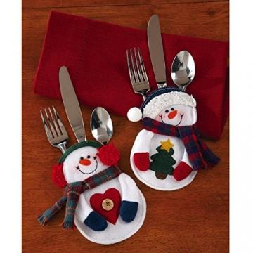 Portaposate Costume da Babbo Natale, Natale, decorazione per tavolo (8pcs) - 2