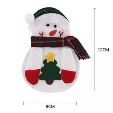 Portaposate Costume da Babbo Natale, Natale, decorazione per tavolo (8pcs) - 3