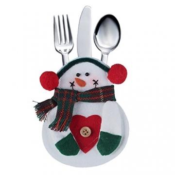 Portaposate Costume da Babbo Natale, Natale, decorazione per tavolo (8pcs) - 4