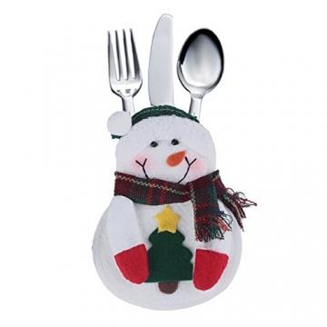 Portaposate Costume da Babbo Natale, Natale, decorazione per tavolo (8pcs) - 5
