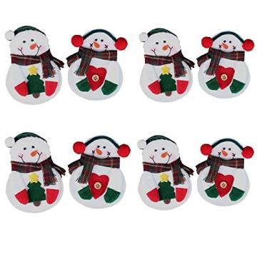 Portaposate Costume da Babbo Natale, Natale, decorazione per tavolo (8pcs) - 6