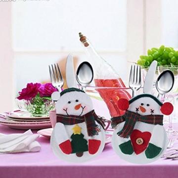 Portaposate Costume da Babbo Natale, Natale, decorazione per tavolo (8pcs) - 7