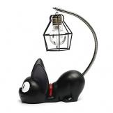 Resina creativa Kiki Cat Animal Night Light, Ornamenti Decorazione per la casa Regalo Piccola lampada da vivaio per gatti Respirazione LED Night Lamp - 1