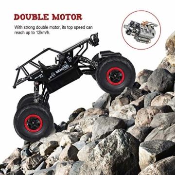 SGILE 1:14 Auto Telecomandata, 2.4 GHZ 4WD RC Auto di Tutto Terreno, con 2 Batterie Caricabile, Regalo di Natale per Adulti e Bambini - 7