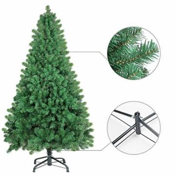 SHareconn Albero di Natale Artificiale Pino, Supporto in Metallo, Facile Montaggio, PVC - 228cm - 2