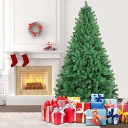SHareconn Albero di Natale Artificiale Pino, Supporto in Metallo, Facile Montaggio, PVC - 228cm - 1