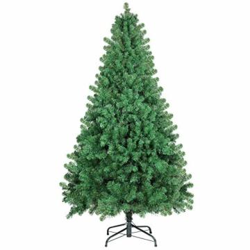 SHareconn Albero di Natale Artificiale Pino, Supporto in Metallo, Facile Montaggio, PVC - 228cm - 6