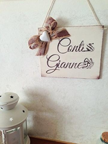 Targa in legno di benvenuto : Benvenuti a casa di. - idea regalo personalizzata - 8