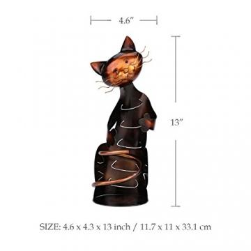 Tooarts Portabottiglie Per Vino Dal Design, Cat Pratica Decorazione Scultorea Casa Scaffale del Metallo Crafts Decorazione d'interni - 2