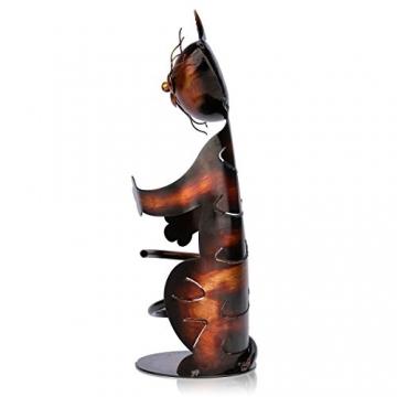 Tooarts Portabottiglie Per Vino Dal Design, Cat Pratica Decorazione Scultorea Casa Scaffale del Metallo Crafts Decorazione d'interni - 8