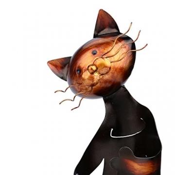 Tooarts Portabottiglie Per Vino Dal Design, Cat Pratica Decorazione Scultorea Casa Scaffale del Metallo Crafts Decorazione d'interni - 9