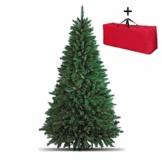 Totò Piccinni Albero di Natale Artificiale, 180 cm (723 Rami) + Borsone, FOLTO di ALTISSIMA QUALITA', Effetto Realistico, Rami a Gancio, Facile Montaggio, PVC, Base Metallica, Ignifugo - 1