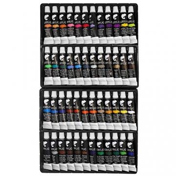 Zenacolor Set da 48 Tubetti di Pittura Acrilica, Colori Acrilici - Confezione da 48 x 12mL - 9