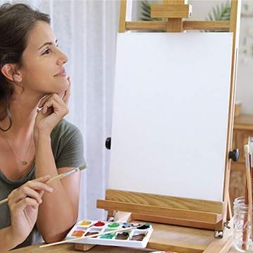 Zenacolor - Set di 10 Tele Cartonate per Dipingere 20 x 20 cm - Tutti i Tipi di Pittura su Tela - 100% Cotone Senza Acidi. - 3