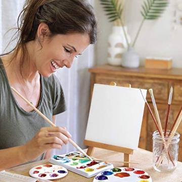 Zenacolor - Set di 10 Tele Cartonate per Dipingere 20 x 20 cm - Tutti i Tipi di Pittura su Tela - 100% Cotone Senza Acidi. - 6