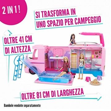 Barbie FBR34 Camper dei Sogni per Bambole con Piscina, Bagno, Cucina e Tanti Accessori, Giocattolo per Bambini 3 + Anni, - 2