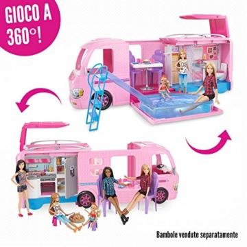 Barbie FBR34 Camper dei Sogni per Bambole con Piscina, Bagno, Cucina e Tanti Accessori, Giocattolo per Bambini 3 + Anni, - 3