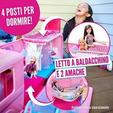 Barbie FBR34 Camper dei Sogni per Bambole con Piscina, Bagno, Cucina e Tanti Accessori, Giocattolo per Bambini 3 + Anni, - 4