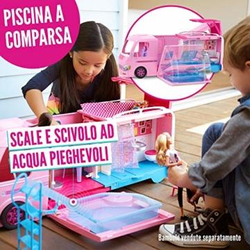 Barbie FBR34 Camper dei Sogni per Bambole con Piscina, Bagno, Cucina e Tanti Accessori, Giocattolo per Bambini 3 + Anni, - 5
