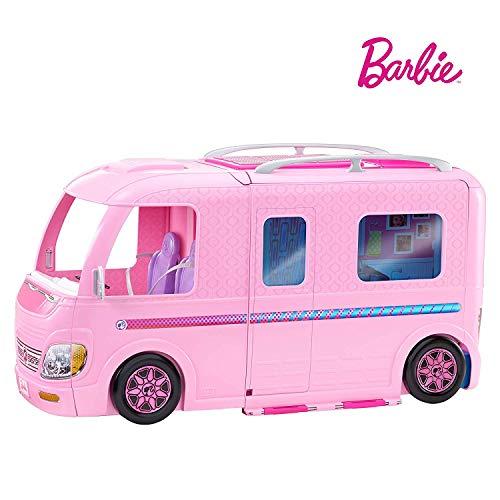 Barbie FBR34 Camper dei Sogni per Bambole con Piscina, Bagno, Cucina e Tanti Accessori, Giocattolo per Bambini 3 + Anni, - 1