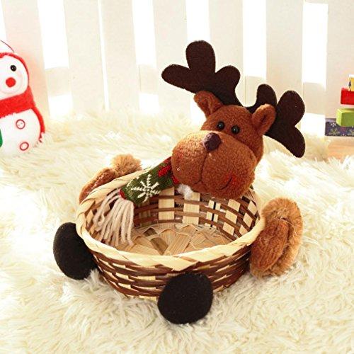 Cinnamou, cestino natalizio porta dolciumi, cestino regalo con decorazione di Babbo Natale - 1