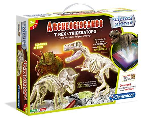 Clementoni 13984 - Archeogiocando T-Rex & Triceratopo - 1
