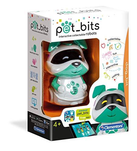 Clementoni- Dog Bit Sapientino Pet Bits Robot Educativo Collezionabile Coding, Multicolore, 12099 - 1