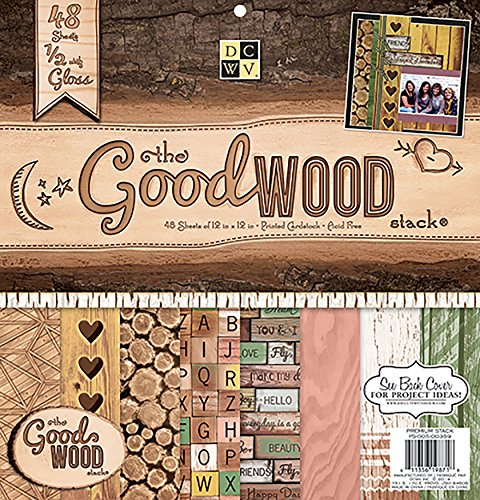 Die Cuts With View-30 x 30 cm, Motivo: Good Wood-Carta - 1