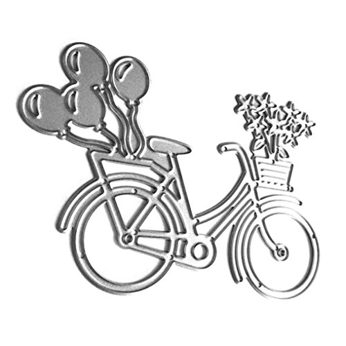 Fustelle per Fustellatrice, FNKDOR Scrapbooking Metallo Fustella Stencil DIY Cutting Dies Album Foto, Accessori per Big Shot e Altre Macchina (L) - 1