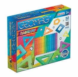 Geomag- Rainbow Gioco di Costruzione Magnetico, Multicolore, 32 Pezzi, 370 - 1