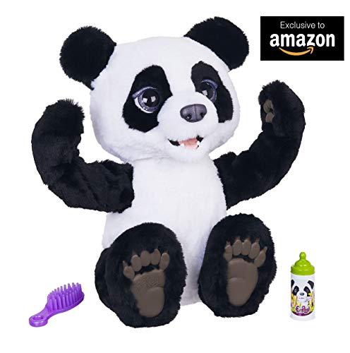 Hasbro FurReal- Plum Il Mio Panda Curioso Peluche Interattivo, Colore Bianco-Nero, E85935S1 - 1