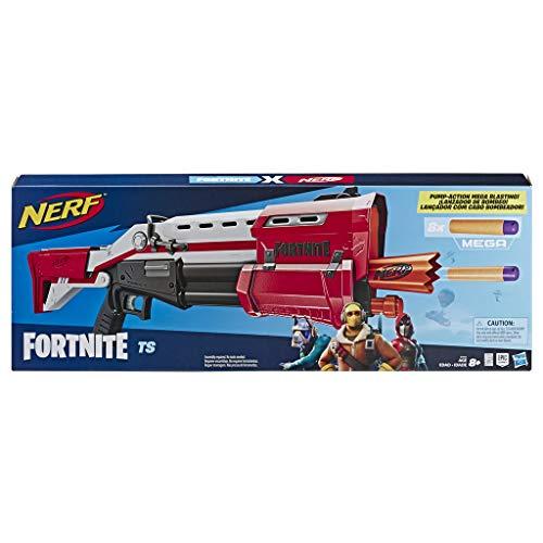 Hasbro Nerf- Fornite Mega Blaster con dardi, Colore Rosso, E7065EU4 - 1