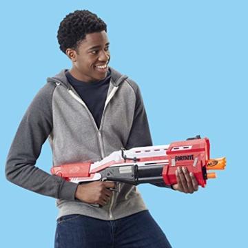 Hasbro Nerf- Fornite Mega Blaster con dardi, Colore Rosso, E7065EU4 - 12