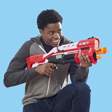 Hasbro Nerf- Fornite Mega Blaster con dardi, Colore Rosso, E7065EU4 - 5