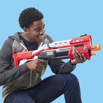 Hasbro Nerf- Fornite Mega Blaster con dardi, Colore Rosso, E7065EU4 - 8
