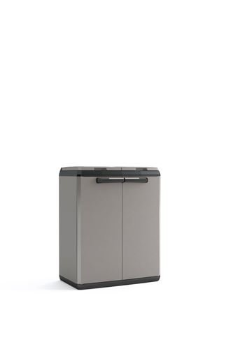 KETER 9736000 Split Cabinet Recycling Basic 68 x 39 x 85 H, Grigio, 68x39x85 cm - 2