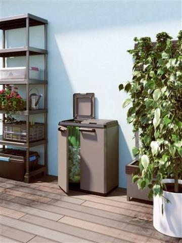 KETER 9736000 Split Cabinet Recycling Basic 68 x 39 x 85 H, Grigio, 68x39x85 cm - 4