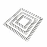 linda20y Cornice Quadrata in Metallo stampi Fustelle DIY Scrapbooking Album Timbro Carta goffratura Craft Decor - 1