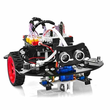 OSOYOO Graphical Programming Robot Car Starter Kit for Arduino Uno | Remote Controlled STEM Mechanical Motorized Robotics for Building Learning How to Code | Educational Coding for Kids Teens Adults - 6